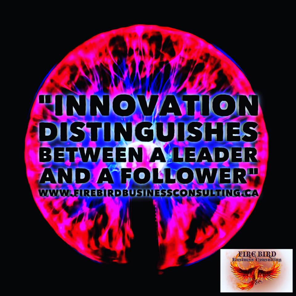 Innovation distinguishes between a leader and a follower – Firebird Business Consulting Ltd