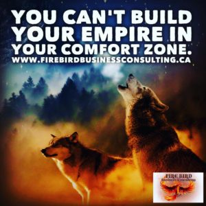 You can't build your empire in your comfort zone - Firebird Business Consulting - Saskatoon