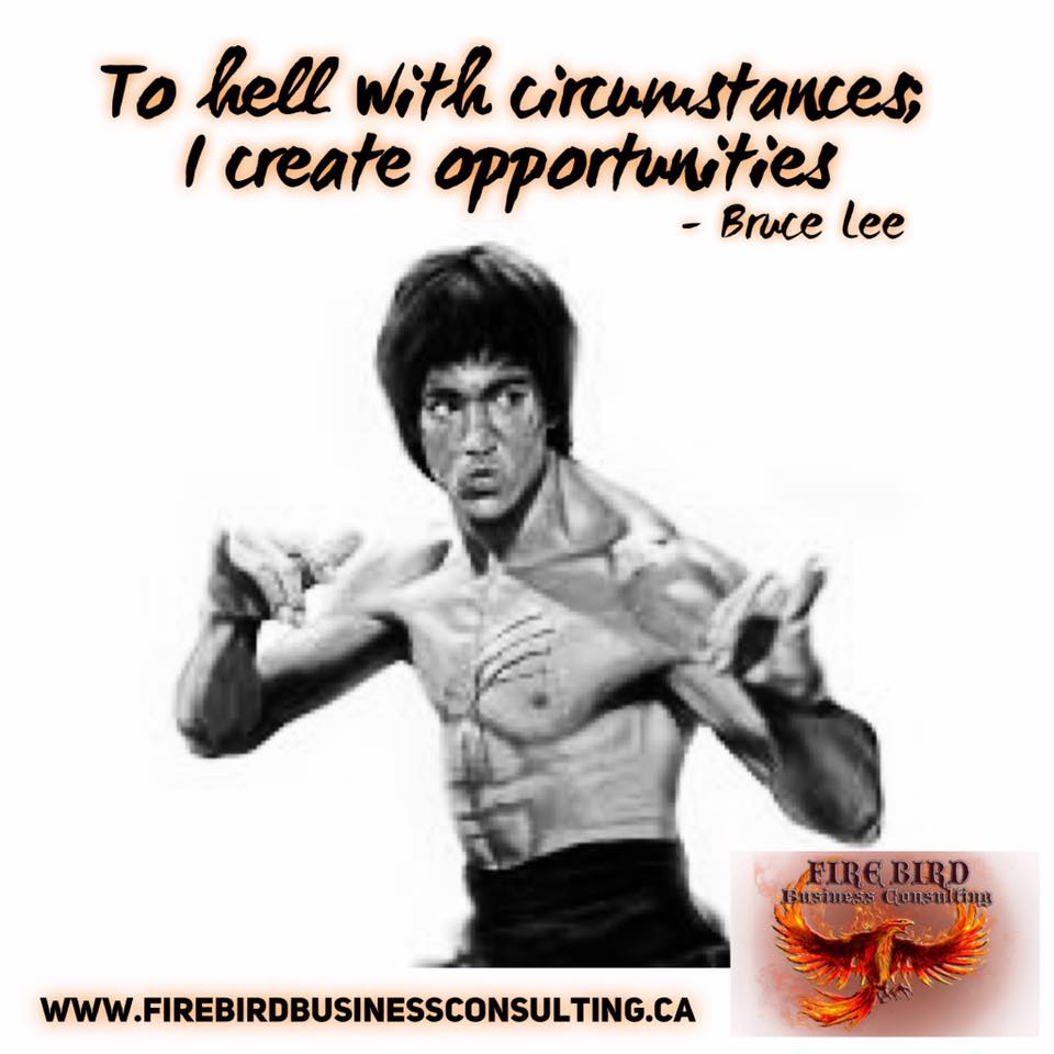 To hell with circumstances; I create opportunities – Firebird Business Consulting – Consultant – Coach – Saskatoon