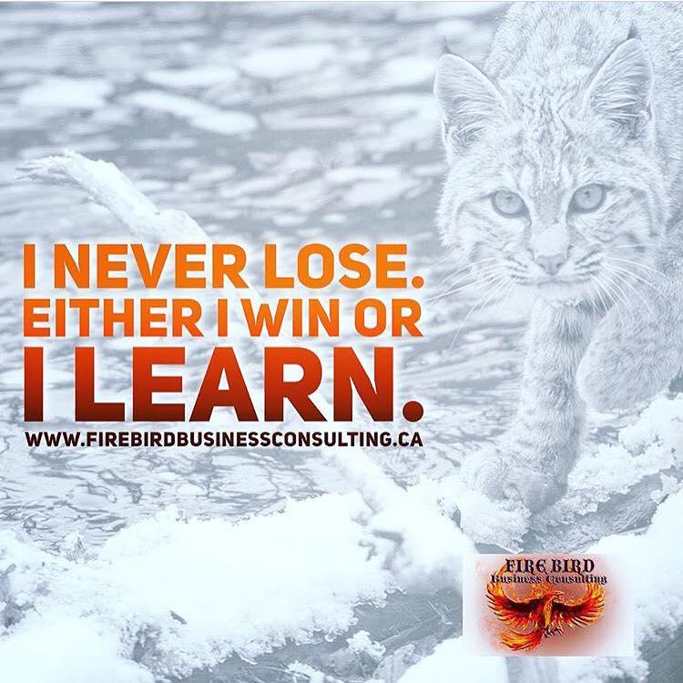 I never lose. Either I win or I learn. – Firebird Business Consulting – Saskatoon – Saskatchewan – Canada