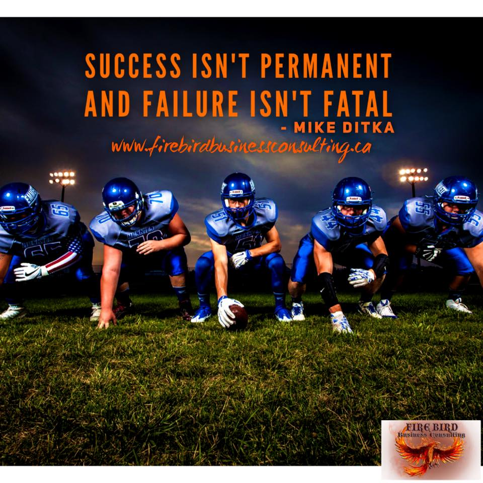Remember – Success isn't permanent and failure isn't fatal – Firebird Business Consulting Ltd. – Saskatoon – Regina – Saskatchewan – Canada