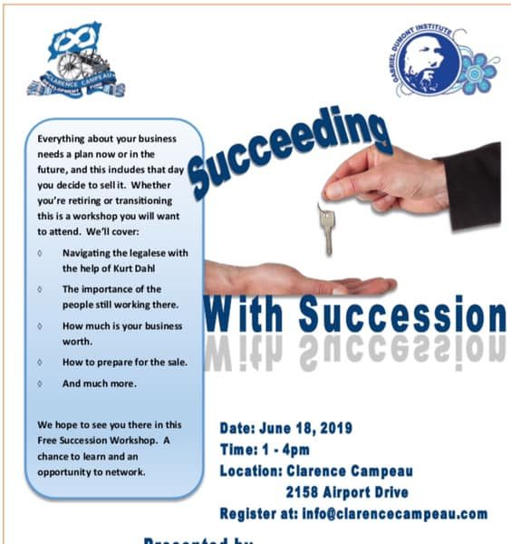 Succeeding with Succession Workshop – CCDF – GDI – Firebird Business Consulting & Murphy & Company LLP